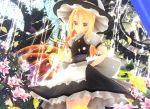 1girl 3d clock dress flower hat kirisame_marisa kurogoma_(meganegurasan) mikumikudance solo touhou witch_hat