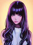 1girl highres ilya_kuvshinov long_hair original purple_hair solo violet_eyes