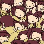 :3 :d angry brown_hair chain chains chibi collar expressions happy jacket kashiwa_kiseri necktie open_mouth serico smile umineko_no_naku_koro_ni ushiromiya_battler