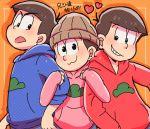 brothers matsuno_karamatsu matsuno_osomatsu matsuno_todomatsu multiple_boys osomatsu-kun osomatsu-san siblings tagme