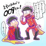 2boys brothers cyborg_009 fukuyama_jun matsuno_ichimatsu matsuno_osomatsu multiple_boys osomatsu-kun osomatsu-san sakurai_takahiro scarf seiyuu_connection shimamura_joe shimamura_joe_(cosplay) siblings