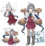 1girl asashimo_(kantai_collection) beans kantai_collection kiyoshimo_(kantai_collection) mamemaki masu riz_(ravel_dc) setsubun solo
