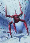 alien boss crab dutch_angle gameplay_mechanics gradius gradius_ii hallway konami machinery mecha no_humans realistic robot sakatsu_ohane science_fiction shadow spacecraft_interior video_game