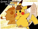 commentary_request detective_pikachu english great_detective_pikachu:_the_birth_of_a_new_duo hat no_humans pikachu pipe pokemon pokemon_(creature) pokemon_(game)