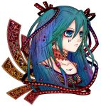 aqua_eyes blue_hair hair_ribbon hatsune_miku long_hair ribbon sio sio_(rough) solo twintails vocaloid