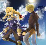 armor bad_id blonde_hair blue_eyes braid final_fantasy final_fantasy_tactics knight long_hair ramza_beoulve spikes sword tooka translation_request weapon