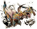 claws fangs monster monster_hunter no_humans open_mouth ryuuta_(ipse) tail teeth tigrex wyvern