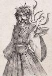 dress ears konngara long_hair ribbon touhou traditional