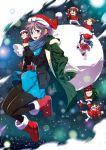 asahina_mikuru blu-ray_cover hat koizumi_itsuki kyon nagato_yuki nagato_yuki-chan_no_shoushitsu santa_hat school_uniform serafuku suzumiya_haruhi suzumiya_haruhi_no_shoushitsu suzumiya_haruhi_no_yuuutsu tagme tsuruya