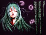 blood cielo_(zaki) closed_eyes green_hair layla_prismriver nosebleed touhou translation_request