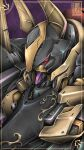 absurdres code_geass denjyou23 extra_eyes from_above gawain highres horns looking_down mecha no_humans red_eyes science_fiction shiny solo