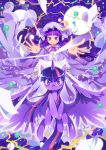 1girl bow crossover hair_bow hair_ribbon hat highres looking_at_viewer mob_cap my_little_pony my_little_pony_friendship_is_magic patchouli_knowledge pegasus pony purple_hair ribbon smile touhou twilight_sparkle unicorn violet_eyes xin_yu_hua_yin