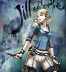 1girl blonde_hair breasts cleavage highres jill_valentine resident_evil resident_evil_5 short_hair solo