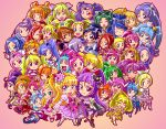 6+girls absolutely_everyone aida_mana aino_megumi akagi_towa akimoto_komachi amanogawa_kirara aoki_reika aono_miki asahina_mirai chibi cure_ace cure_aqua cure_beat cure_beauty cure_berry cure_black cure_bloom cure_blossom cure_diamond cure_dream cure_echo cure_egret cure_flower cure_fortune cure_happy cure_heart cure_honey cure_lemonade cure_lovely cure_magical cure_march cure_marine cure_melody cure_mermaid cure_mint cure_miracle cure_moonlight cure_muse_(yellow) cure_passion cure_peach cure_pine cure_princess cure_rhythm cure_rosetta cure_rouge cure_scarlet cure_sunny cure_sunshine cure_sword cure_twinkle dokidoki!_precure everyone fresh_precure! futari_wa_precure futari_wa_precure_max_heart futari_wa_precure_splash_star go!_princess_precure hanasaki_tsubomi happinesscharge_precure! haruno_haruka heartcatch_precure! higashi_setsuna highres hikawa_iona hino_akane_(smile_precure!) hishikawa_rikka hoshizora_miyuki houjou_hibiki hyuuga_saki izayoi_liko kaidou_minami kasugano_urara_(yes!_precure_5) kenzaki_makoto kise_yayoi kujou_hikari kurokawa_eren kurumi_erika madoka_aguri magical_girl mahou_girls_precure! meta_meta midorikawa_nao milk_(yes!_precure_5) milky_rose mimino_kurumi minamino_kanade minazuki_karen mishou_mai misumi_nagisa momozono_love multiple_girls myoudouin_itsuki natsuki_rin oomori_yuuko pink_background precure precure_all_stars precure_all_stars_new_stage:_mirai_no_tomodachi sakagami_ayumi seiren_(suite_precure) shiny_luminous shirabe_ako shirayuki_hime smile_precure! suite_precure tsukikage_yuri yamabuki_inori yes!_precure_5 yes!_precure_5_gogo! yotsuba_alice yukishiro_honoka yumehara_nozomi