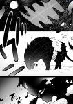 blob comic doremy_sweet doremy_sweet_(baku) highres monochrome short_hair sisikuku tapir touhou translation_request