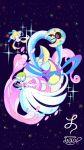 cresselia highres jirachi le-av lunatone mega_gardevoir mega_pokemon no_humans pokemon pokemon_(creature) sky star_(sky) starry_sky