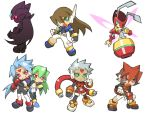 atlas capcom chibi green_eyes grey_(rockman) pandora prometheus red_eyes rockman rockman_zx vent