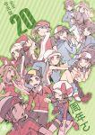 6+boys 6+girls anniversary blue_(pokemon) brown_hair calme_(pokemon) cape gold_(pokemon) haruka_(pokemon) haruka_(pokemon)_(remake) hat hikari_(pokemon) huan_li jacket kotone_(pokemon) kyouhei_(pokemon) long_sleeves mei_(pokemon) multiple_boys multiple_girls number overalls pokemon pokemon_(game) pokemon_bw pokemon_bw2 pokemon_dppt pokemon_frlg pokemon_hgss pokemon_oras pokemon_xy ponytail porkpie_hat red_(pokemon) serena_(pokemon) short_hair short_sleeves touko_(pokemon) touya_(pokemon) yuuki_(pokemon) yuuki_(pokemon)_(remake)