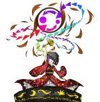 1girl bowl highres japanese_clothes kan_(aaaaari35) kimono miracle_mallet needle purple_hair red_eyes solo sukuna_shinmyoumaru touhou wide_sleeves
