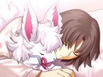 1girl animal black_hair closed_eyes fate/grand_order fate_(series) four_(fate/grand_order) kara_no_kyoukai ryougi_shiki sen_(77nuvola) short_hair sleeping