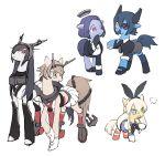 5girls animal_ears blonde_hair cosplay crossover eyepatch horse kantai_collection long_hair military military_uniform multiple_girls mutsu_(kantai_collection) mutsu_(kantai_collection)_(cosplay) nagato_(kantai_collection) nagato_(kantai_collection)_(cosplay) parody pony rabbit_ears s-bis shimakaze_(kantai_collection) shimakaze_(kantai_collection)_(cosplay) short_hair tatsuta_(kantai_collection) tatsuta_(kantai_collection)_(cosplay) tenryuu_(kantai_collection) tenryuu_(kantai_collection)_(cosplay) uniform