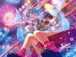 bang_dream! blue_hair blush long_hair matsubara_kanon violet_eyes yukata