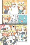 /\/\/\ 0_0 ? blush chibi chibi_miku comic hatsune_miku kagamine_len kagamine_rin minami_(colorful_palette) o3o o_o poking sweat tears tickling vocaloid