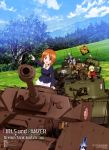 absurdres anchovy anzio_military_uniform black_hair blonde_hair blue_eyes brown_eyes brown_hair bt-42 churchill_(tank) clouds darjeeling forest garrison_cap girls_und_panzer green_hair ground_vehicle hair_ribbon hat highres itou_takeshi katyusha kay_(girls_und_panzer) kuromorimine_military_uniform m4_sherman mika_(girls_und_panzer) military military_vehicle motor_vehicle mountain mountainous_horizon multiple_girls nature nishi_kinuyo nishizumi_maho nishizumi_miho official_art ooarai_military_uniform open_mouth panzerkampfwagen_iv pointing ribbon saunders_military_uniform school_uniform shimada_arisu sky smile st._gloriana's_military_uniform t-34 tank tiger_i tree type_97_chi-ha uniform vehicle