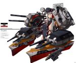1girl aiming_at_viewer blue_eyes bracer braid breasts cannon character_name commentary elbow_gloves flag german_empire_naval_jack gloves gun hat highres kantai_collection long_hair machinery mecha_musume military original personification radar ribs rust searchlight sideboob silver_hair single_braid solo ssamjang_(misosan) tirpitz torpedo turret weapon world_war_ii