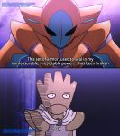 crossover deoxys english hitmonchan lord_boros mgx0 no_humans one-punch_man parody pokemon saitama_(one-punch_man) saitama_(onepunch_man)_(cosplay)