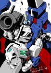1boy 80s autobot gun kamizono_(spookyhouse) machinery mecha no_humans oldschool robot science_fiction solo transformers twitter_username ultra_magnus weapon