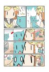 0_0 cage cat cat_teaser chibi_miku comic hatsune_miku imagining kagamine_rin minami_(colorful_palette) pool silent_comic sleeping sweat sweatdrop tears thinking vocaloid whip