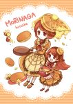 2girls bee butter food_as_clothes food_themed_clothes frying_pan honey mena mother_and_daughter multiple_girls original pancake personification tagme whisk