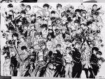 6+boys ansatsu_kyoushitsu bakura_ryou banchouleomon bangs baseball_bat beelzebub_(manga) black_hair book card cardcaptor_sakura chibi_maruko-chan cigarette copyright_request crossover digimon earrings eyeshield_21 fuuma_kojirou fuuma_no_kojirou gakuran glasses gouda_takeo hareluya_boys hibari_kyouya hibino_hareluya highres hikaru_no_go hiruma_youichi ikari_shinji jewelry jojo_no_kimyou_na_bouken kageyama_shigeo katekyo_hitman_reborn kekkaishi kinzoku_bat konjiki_no_gash!! kumagawa_misogi kuroba_kaitou kusanagi_kyou kuujou_joutarou kyuukyoku_choujin_r lee_(dragon_garou) li_xiaolang long_sleeves looking_at_viewer magic_kaito male_focus mechazawa_shin'ichi medaka_box meitantei_conan mendou_shuutarou mitsume_ga_tooru mob_psycho_100 monochrome multicolored_hair multiple_boys multiple_crossover mutou_yuugi nagasawa_kimio necktie neon_genesis_evangelion oga_tatsumi one-punch_man ore_monogatari!! oversized_object photo pointy_ears pompadour r_tanaka_ichirou robot saiki_kusuo saiki_kusuo_no_psi_nan sakamoto sakamoto_desu_ga? sakigake!!_cromartie_koukou sakigake!!_otokojuku sakuragi_hanamichi school_uniform screw sharaku_hosuke shiota_nagisa slam_dunk smoke spiky_hair sumimura_yoshimori takamine_kiyomaro the_king_of_fighters touya_akira trait_connection tsurugi_momotaro twintails urameshi_yuusuke urusei_yatsura watanuki_kimihiro weapon xxxholic yami_yuugi yuu-gi-ou yuu_yuu_hakusho