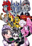2girls 6+boys arcee autobot beast_wars blue_eyes bumblebee car chibi commentary_request decepticon glowing happy hitotonari_atari kamizono_(spookyhouse) kiss_players lockdown lockdown_(transformers) machine machinery male_focus maximal mecha megatron motor_vehicle multiple_boys multiple_girls oldschool open_mouth optimus_prime personification q-transformers rat rattrap red_eyes robot science_fiction size_difference smile star_saber_(transformers) starscream transformers transformers_animated transformers_armada transformers_prime transformers_victory vehicle