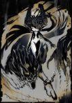 helmet link link_(wolf) midna monochrome mri nintendo pointy_ears sepia the_legend_of_zelda twilight_princess wolf
