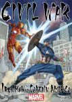 2boys armor captain_america fighting iron_man marvel mashima_hiro multiple_boys power_armor shield superhero tony_stark
