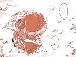 1girl bird bird_wings comic hat mitsumoto_jouji monochrome mystia_lorelei okamisty solo sparrow touhou translated trembling wings