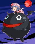 arikawa bat_wings blue_hair chibi closed_eyes crossover fernandez hat m.u.g.e.n remilia_scarlet sunsoft touhou waku_waku_7 wings yukkuri_shiteitte_ne