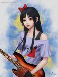 1girl akiyama_mio black_eyes black_hair gohpot highres k-on! listen!! long_hair realistic smile