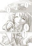 2girls ^_^ akiyama_mio closed_eyes comic flower hamioura hirasawa_yui k-on! key kotobuki_tsumugi monochrome multiple_girls nakano_azusa photo_(object) school_uniform short_hair smile tainaka_ritsu tears translated twintails