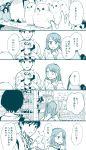 1boy 1girl comic commentary_request highres monochrome original tadano_(toriaezu_na_page) translation_request