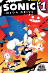 1girl 3boys amy_rose archie_comics company_name cover dr._eggman dress gloves highres knuckles_the_echidna miles_prower multiple_boys official_art piko_piko_hammer sega shoes sonic sonic_the_hedgehog title tyson_hesse