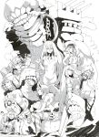 6+girls absurdly_long_hair aircraft_carrier_oni armor armored_boots barrel battleship_hime bonnet boots braid breasts chain choker cleavage commentary_request destroyer_hime dress fangs flat_chest floating glasses gloves grin headphones heavy_cruiser_hime hood hoodie horns kantai_collection large_breasts long_hair looking_at_viewer midriff monochrome multiple_girls navel ninimo_nimo object_hug partially_submerged sailor_collar saliva saliva_trail salute school_uniform shinkaisei-kan size_difference sleeveless sleeveless_dress small_breasts smile striped striped_legwear submarine_hime supply_depot_hime swimsuit teeth thigh-highs tongue torn_clothes very_long_hair