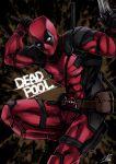 1boy belt deadpool gun highres looking_at_viewer male_focus marvel mask solo sword weapon yusuki_(fukumen)