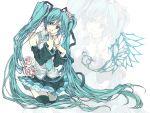 bad_id flower hatsune_miku long_hair thighhighs vocaloid yue_(pixiv)