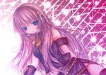 bad_id blue_eyes kasuga_sunao light megurine_luka pink_hair thighhighs vocaloid