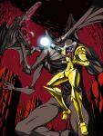 armor battle claws dragon energy grab metroid nintendo open_mouth power_suit ridley rx79v samus_aran tongue varia_suit weapon wings