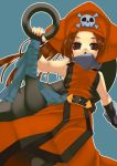 blush brown_eyes brown_hair guilty_gear hat havemoon huge_weapon long_hair may may_(guilty_gear) weapon