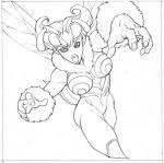 black_eyes bw capcom darkstalkers halftone monster_girl perspective q-bee wings